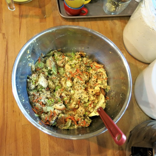 Bread Stuffing with Leeks, Celery and Herbs with a Browned Butter Drizzle