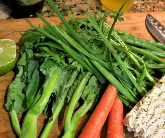 Chinese Greens and Carrots