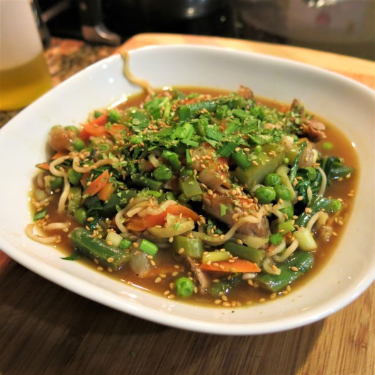 Ramen with Chinese Greens and Ginger
