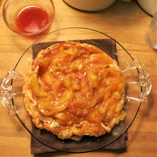 Winter Peach Tarte Tartin with Guava Glaze