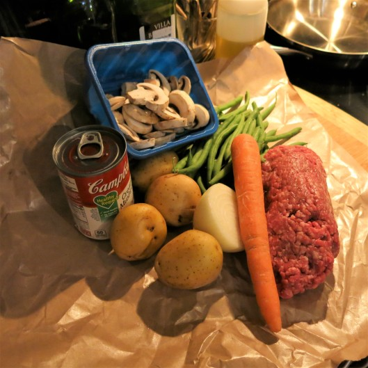 Ingredients for Beef, Potato and Green Bean Skillet Dinner