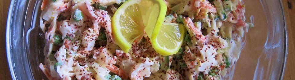 Sea Leg™s & Sweet Pea Salad with Lemon-Yogurt Dressing