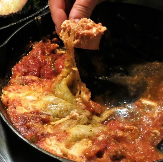Pizza Fondue-Skillet Dinner