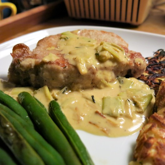 Leek and White Wine-Mustard Cream Sauce