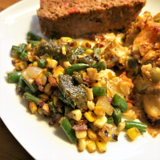 Italian Succotash with Pesto