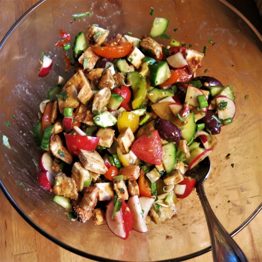 Fattoush-Panzanella Salad