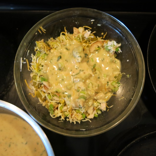 Filling for Chicken Enchilada Crêpes with Cilantro-Lime Cream Sauce