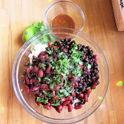 South-of-the-Border Bean Salad (or Salsa)