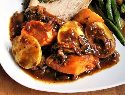 Mushroom-Bacon-Marsala Gravy for Pork (or Beef)