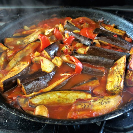 Roasted Sicilian Eggplant with Golden Raisins and Cumin