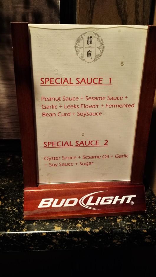 Han Restaurant Special Sauces