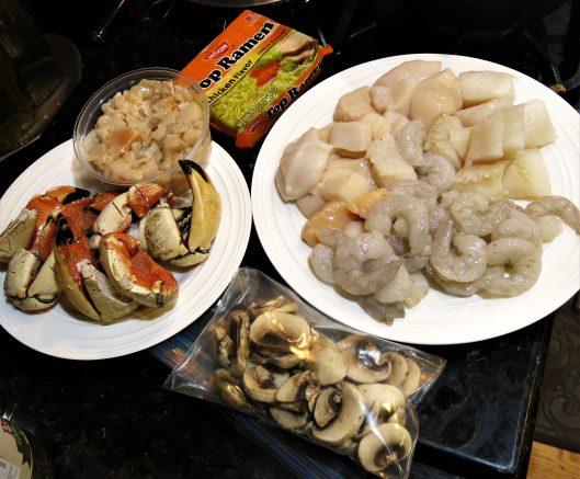 Mixed Seafood for Hot Pot