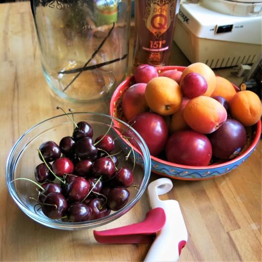 Stone Fruit for Rum Pot