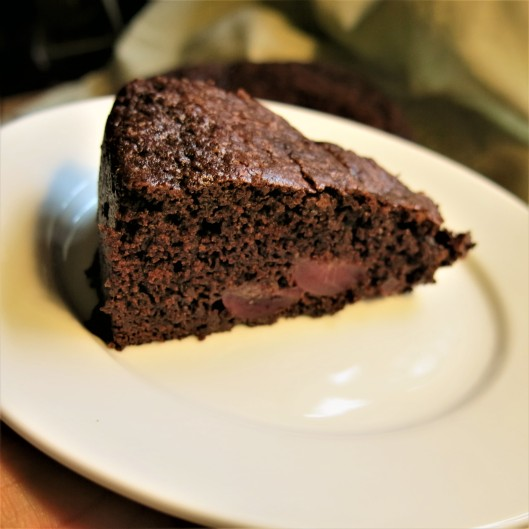 One Layer Chocolate-Cherry Cake