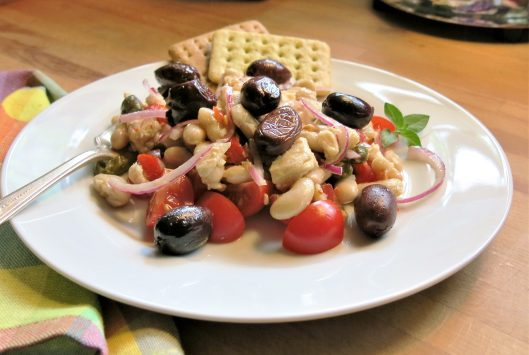 White Bean, Tuna, Red Onion and Caper Salad
