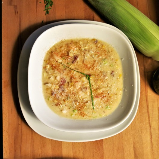 Shrimp-Corn Chowder with Bacon and Scallions