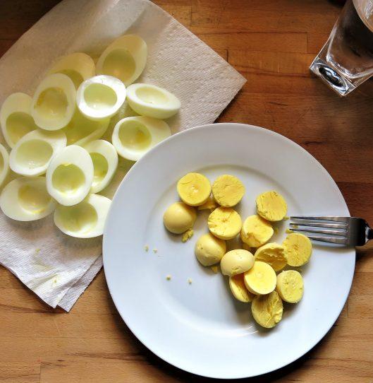 Preparing Deviled Eggs