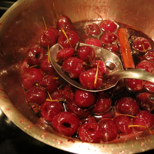 Pickled Bing Cherries