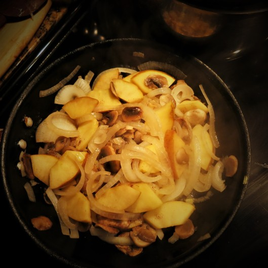 Onions, Apple and Mushroom Compote (for Pork)