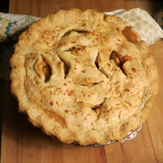 Cider-Bourbon Caramel Apple Pie