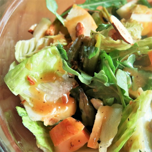 Tossed Salad with Apple Cider-Shallot and Mustard Vinaigrette