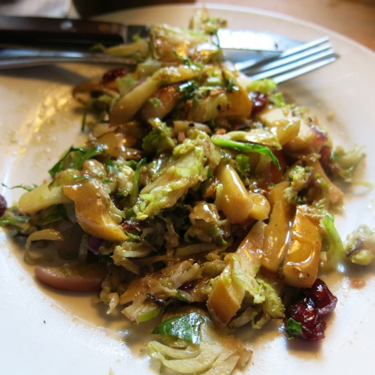 Sautéed Brussels Sprouts with Onion, Garlic, Apples and Cranberries