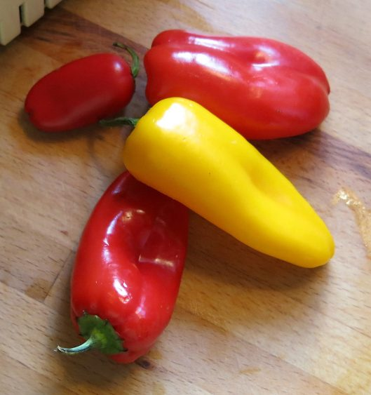 Mixture of Peppers, both Hot and Sweet