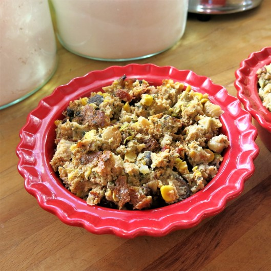 Turkey Pot Pie with Stuffing Crust