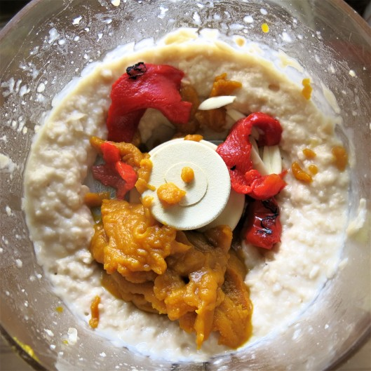 Hummus with Pumpkin and Roasted Pepper