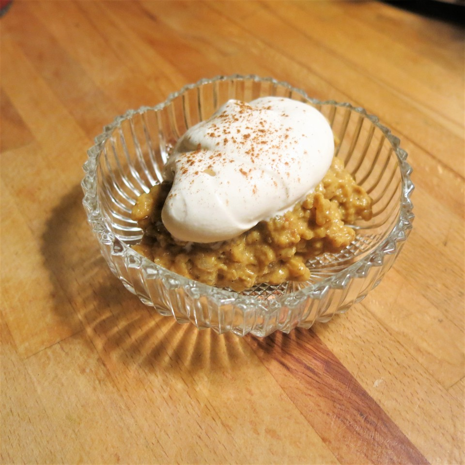 Spicy Pumpkin Pie Rice Pudding