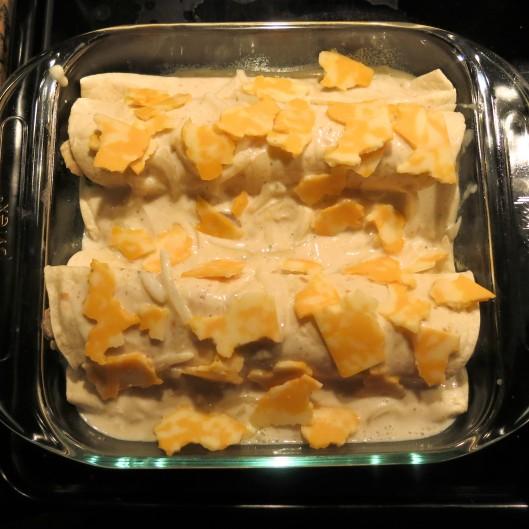 Chicken Pot Pie Enchiladas