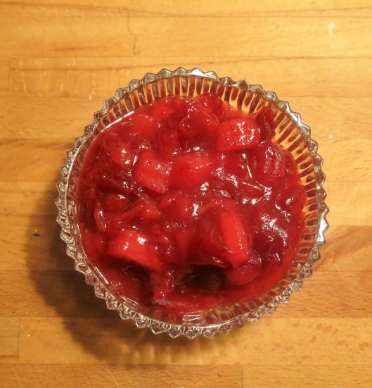 Cranberry Sauce with Warm, Tropical Flavors