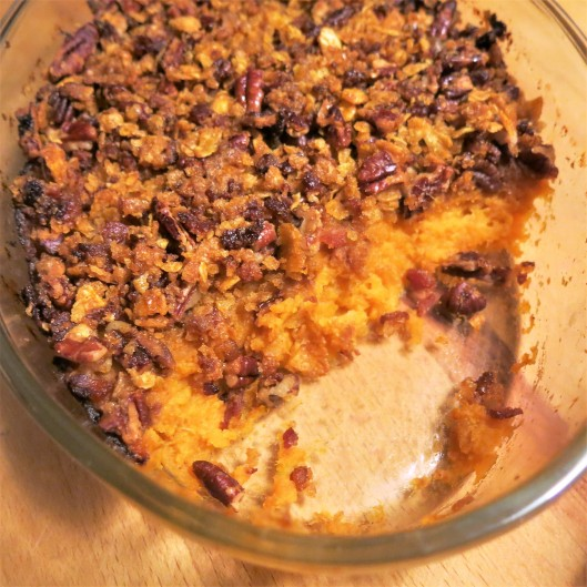 Bourbon Sweet Potatoes with Bacon-Pecan Topping
