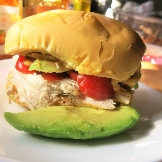 Day-After-Thanksgiving Turkey Sandwich with Sweet Curry Mayo