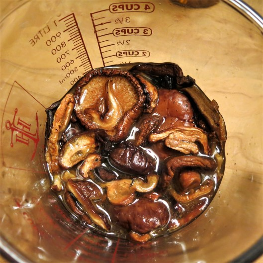 Dried Mushrooms Reconstituting