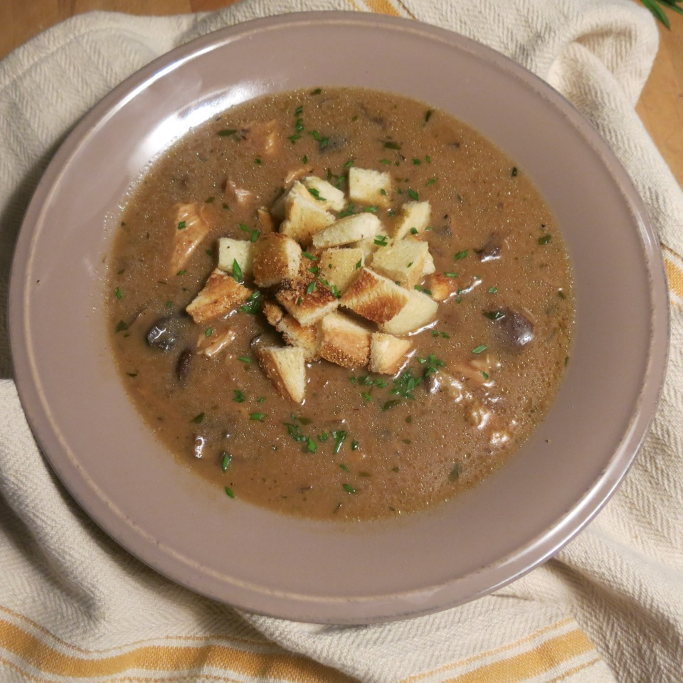 Sherry-Laced Wild Mushroom Bisque