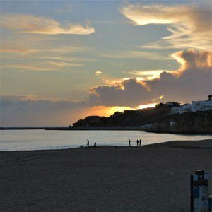 Albufeira Beach at Sunset