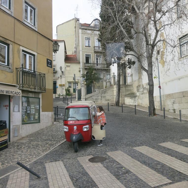 Tuk Tuk on a Lisbon Street