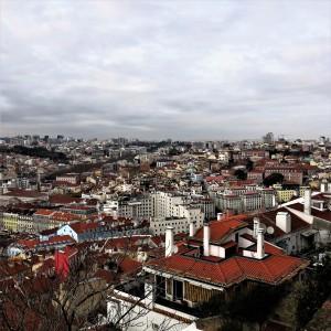 Lisbon Rooftops from Castelo São Jorge (St. George Castle)