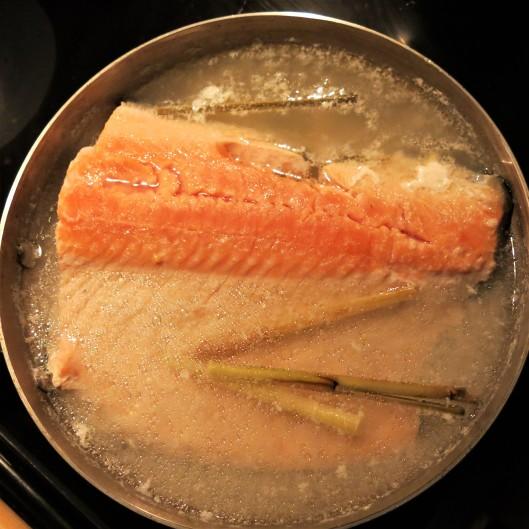 Partially Poached Salmon