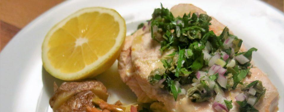 Poached Salmon with Condimento Picado