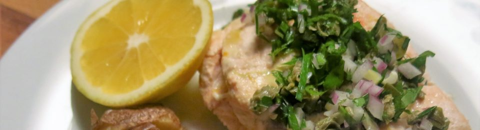 Poached Salmon with Condimento Picado