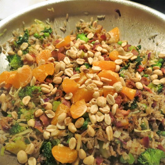 Bacon-Fried Rice with Clementine Bits