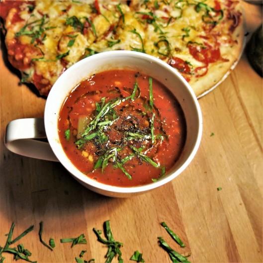 Tomato-Leek & Fennel Soup with Lentils