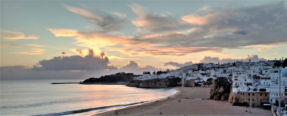 The Beach at Sunset - Old Albufeira