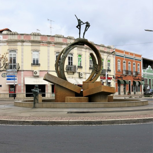 Gago Coutinho Square - Loulé in the Algarve