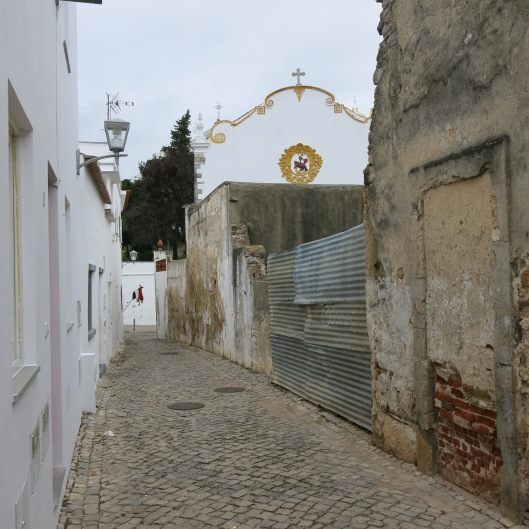 Walking Toward the Castle and the Igreja de Santiago - Tavira