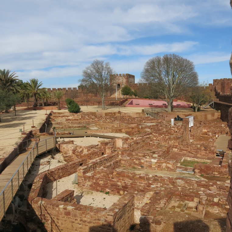 Excavated Remnants of 11th Century Palace - Silves Castle - Algarve