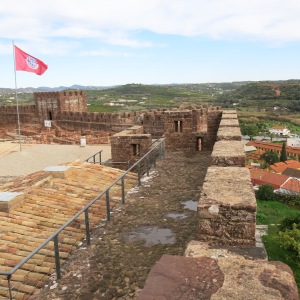 Silves Castle with the Silves Flag - Algarve