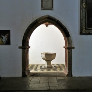 Baptismal Font in Sé de Silves (Cathedral of Silves) - Algarve